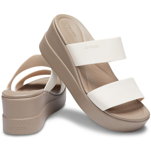 CROCS BROOKLYN MID WEDGE STUCCO/MUSHROOM - getset-footwear.myshopify.com