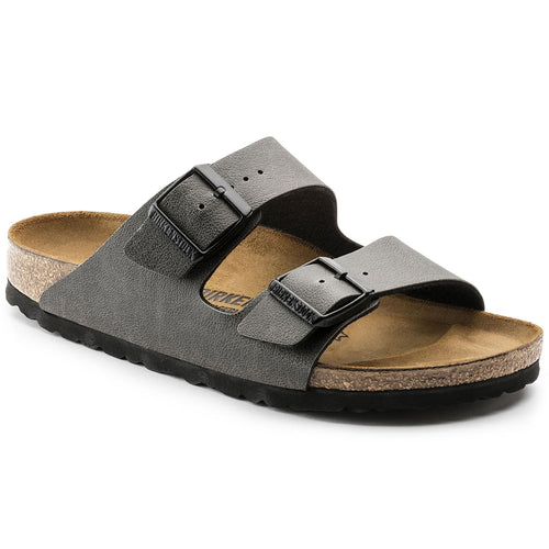 BIRKENSTOCK ARIZONA PULL UP ANTHRACITE VEGAN BIRKO-FLOR REGULAR getset-footwear.myshopify.com