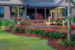 landscaped house with encore azaleas