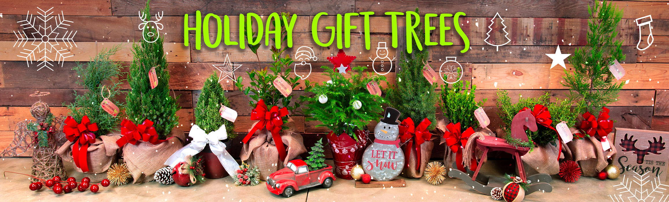holiday gift trees