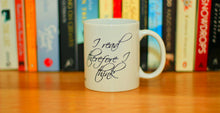 'I think therefore I read' mug