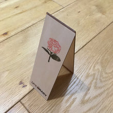 'A Rose By Any Other Name' wooden bookmark