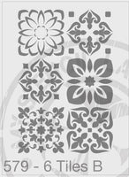 Tile Stencil Repeat Pattern Mixed Designs - MSL 579
