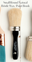 Small Round Natural Bristle Wax/Paint Brush - Fusion Brushes > Wax Brush > Paint Brush