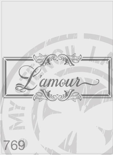 L'amour Flourish Panel - MSL 769
