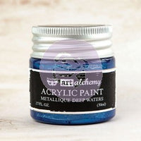 Art Alchemy Finnabair Acrylic Paints - 50ml Paint Metallique Deep Waters