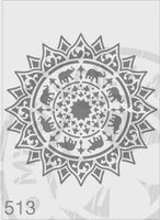 Elephant Mandala - MSL 513 Stencil XLarge 285mm coutout (sheet size 300x300mm)
