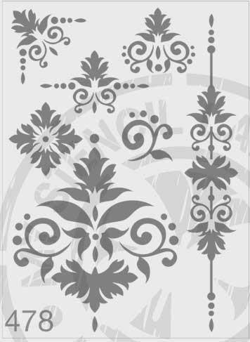 Flourish Package - MSL 478 Stencil Large (sheet size 210 x 295mm)