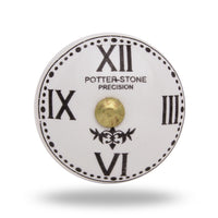 Ceramic Clock Face with Roman Numerals Knob