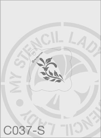 Flourish - MSL C037 Stencil Small Round 65mm Max Design cutout (sheet size 95x