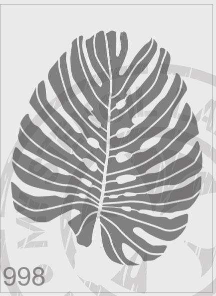 Monsterio Leaf - MSL 998 Stencil Large - (Sheet Size 210 x 295mm)
