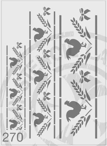 Rooster & Wheat Border - MSL 270