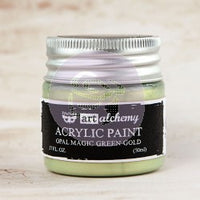 Art Alchemy - Opal Magic - Acrylic Paints- 50ml Paint > Art Alchemy > Opal Magic Green-Gold