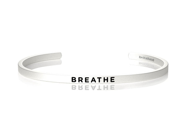 Breathe Jewellery > Affirmation Bracelet > Mantra Bands Silver