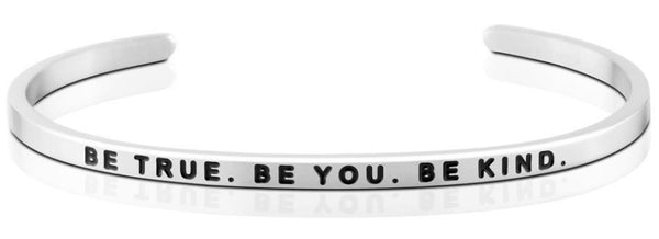 Be True. Be You. Be Kind. Jewellery > Affirmation Bracelet > Mantra Bands Silver