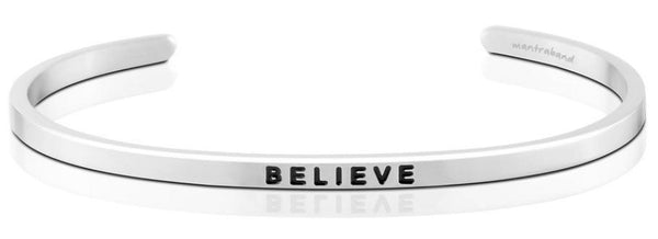 Believe Jewellery > Affirmation Bracelet > Mantra Bands Silver