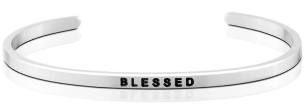 Blessed Jewellery > Affirmation Bracelet > Mantra Bands Silver