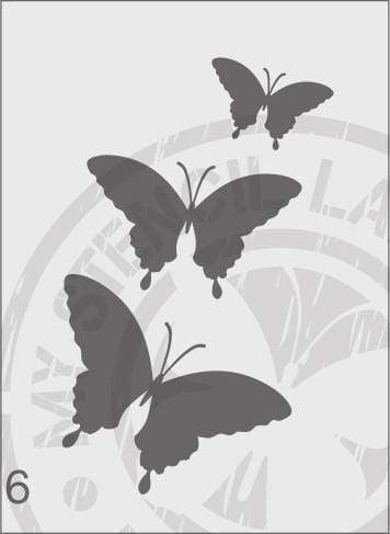 Butterflies - MSL 006 Stencil Small (Sheet Size 95x200mm)
