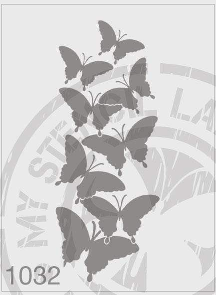 Butterflies - MSL 1032 Stencil Large (Sheet Size 210x295mm)