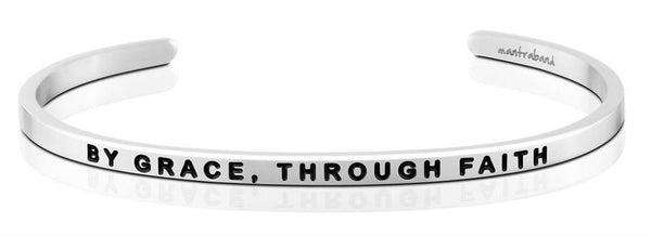 By Grace, Through Faith Jewellery > Affirmation Bracelet > Mantra Bands Silver