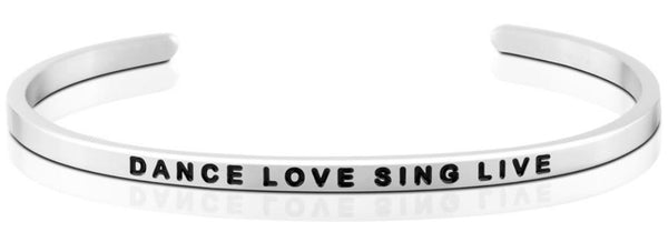 Dance Love Sing Live Jewellery > Affirmation Bracelet > Mantra Bands Silver