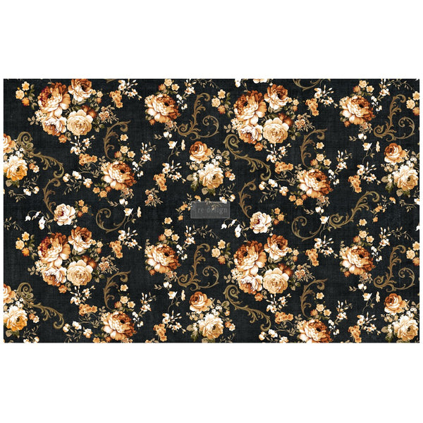 Dark Floral -  Decoupage Decor Tissue Paper