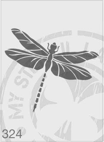 Dragonfly - MSL 324 Stencil Medium - Design 130x145mm (Sheet Size 140x210mm)