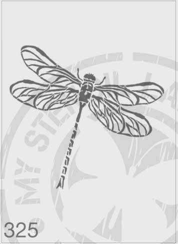 Dragonfly - MSL 325 Stencil Large (Sheet Size 210x295mm)