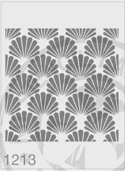 Fan Repeatable Pattern - MSL 1213 Stencil Large - 185mm Cutout (Sheet Size 200x200mm)