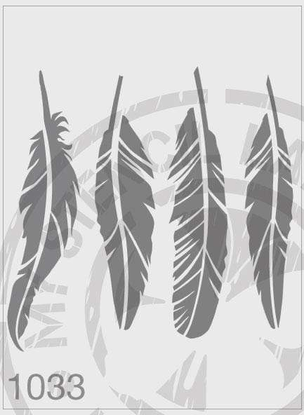 Feathers - MSL 1033 Stencil Medium - 140mm Cutout (Sheet Size 155x155mm)