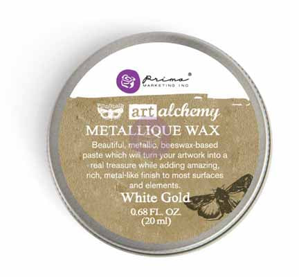 Prima Art Alchemy - Metallique Waxes - 20ml Wax > Art Alchemy > Metallique Wax White Gold