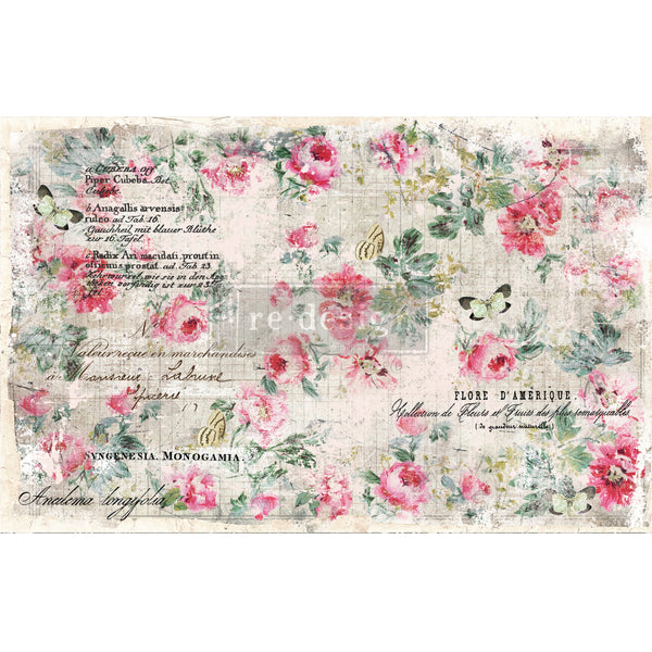 Floral Wallpaper  -  Decoupage Decor Tissue Paper