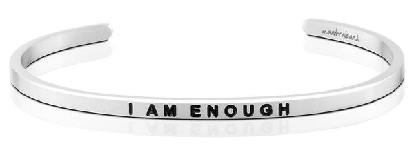 I Am Enough Jewellery > Affirmation Bracelet > Mantra Bands Silver