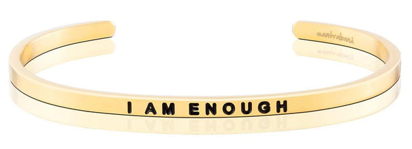 I Am Enough Jewellery > Affirmation Bracelet > Mantra Bands Gold