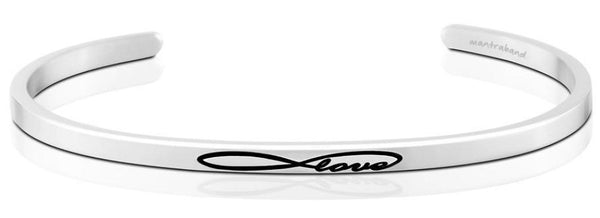 Infinite Love Jewellery > Affirmation Bracelet > Mantra Bands Silver