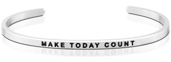 Make Today Count Jewellery > Affirmation Bracelet > Mantra Bands Silver