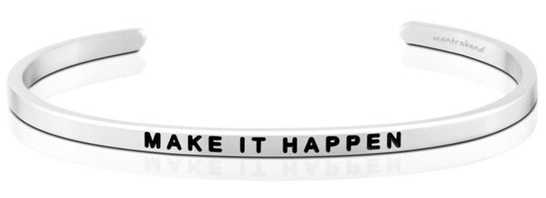Make It Happen Jewellery > Affirmation Bracelet > Mantra Bands Silver