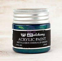 Art Alchemy Finnabair Acrylic Paints - 50ml Paint Metallique Emerald Green