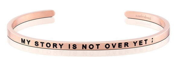 My Story Is Not Over Yet Jewellery > Affirmation Bracelet > Mantra Bands Rose Gold