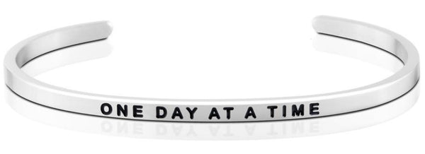 One Day At A Time Jewellery > Affirmation Bracelet > Mantra Bands Silver