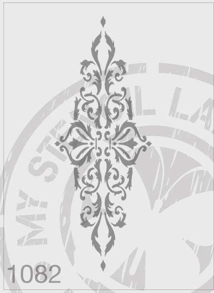 Ornate Panel - MSL 1082 Stencil Medium - 80x220mm Design (Sheet Size 95x315mm)