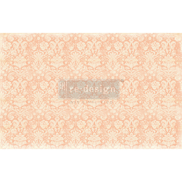 Peach Damask -  Decoupage Decor Tissue Paper