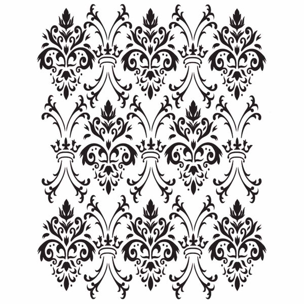 Dixie Belle Royal Damask Stencil - 16x20 (40x50cm)