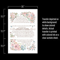 Re-design Decor Transfer - Pure Light Floral