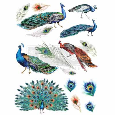 Redesign Decor Transfers - Peacock Dreams