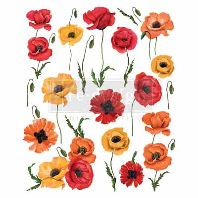 Redesign Decor Transfers -Poppy Gardens