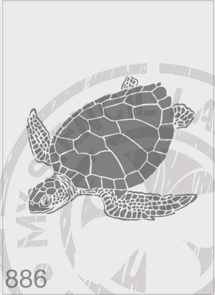 Sea Turtle - MSL 886 Stencil Large - 195x231mm Design Cutout (Sheet Size 210x295mm)