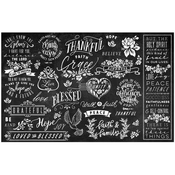 Thankful & Blessed II -  Decoupage Decor Tissue Paper