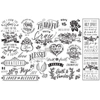 Thankful & Blessed -  Decoupage Decor Tissue Paper
