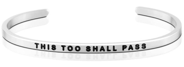 This Too Shall Pass Jewellery > Affirmation Bracelet > Mantra Bands Silver